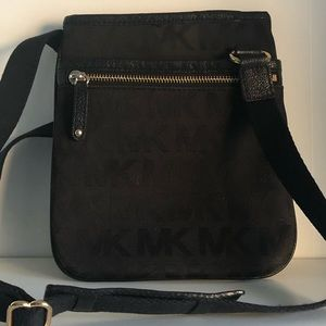 Michael Kors black on black crossbody bag